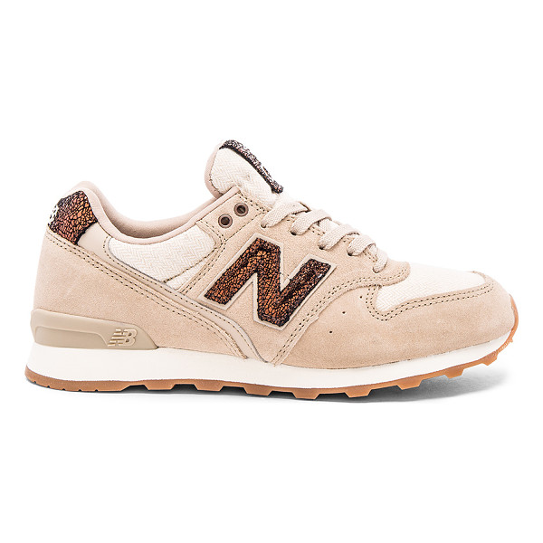 NEW BALANCE Capsule collection sneaker - Suede and textile upper with rubber sole. Lace-up front....