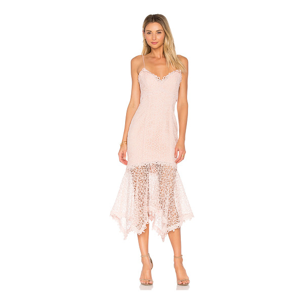 NICHOLAS Guipure Lace Dress - Self & Contrast: 100% polyLining: 95% poly 5% spandex. Dry...