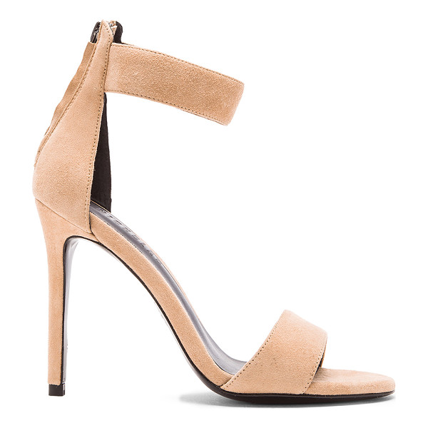 NICHOLAS Sofia sandal heel - Suede upper with leather sole. Back zip closure. Heel...
