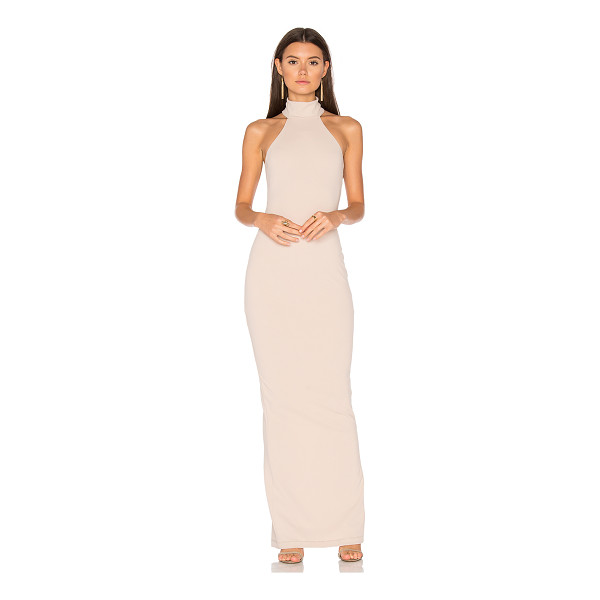 NOOKIE Basic Instinct Gown - Poly blend. Dry clean only. Fully lined. Back slit. Hidden...