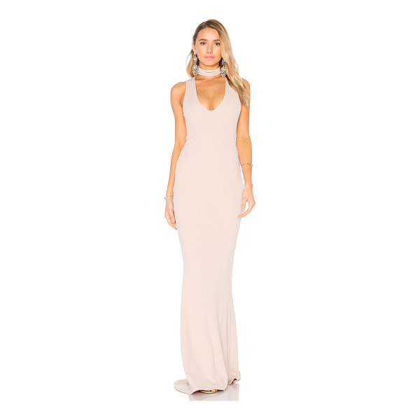 NOOKIE Diva Gown - Poly/Spandex blend. Partially lined. Back hidden zipper...