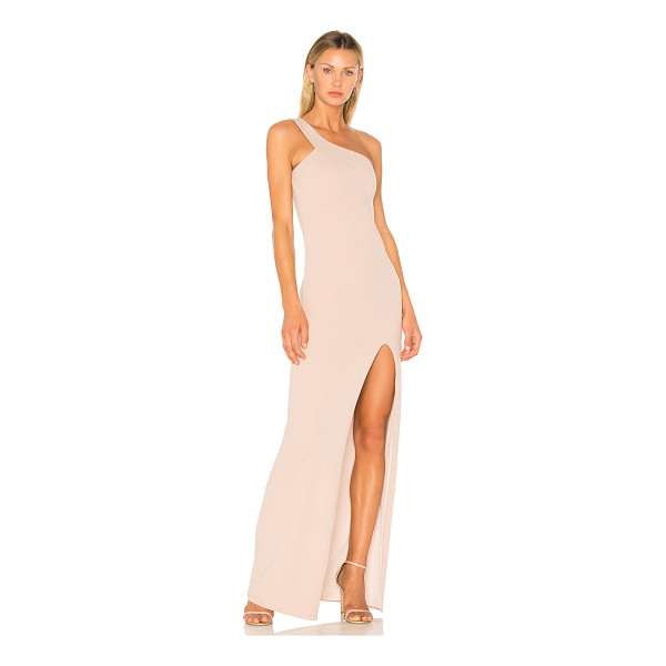 NOOKIE Mila Gown - 94% poly 6% spandex. Fully lined. One shoulder styling....