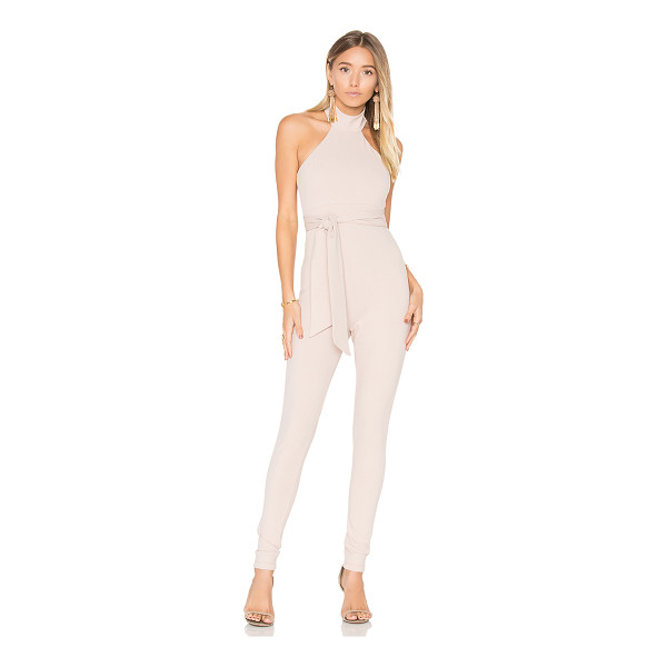 "NOOKIE Nikita Jumpsuit - ""Poly/spandex blend. Hand wash cold. Waist tie. Hidden back..."