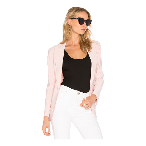 NORMA KAMALI Single Breasted Jacket - 95% poly 5% spandex. Velcro front closure. Shoulder pads....