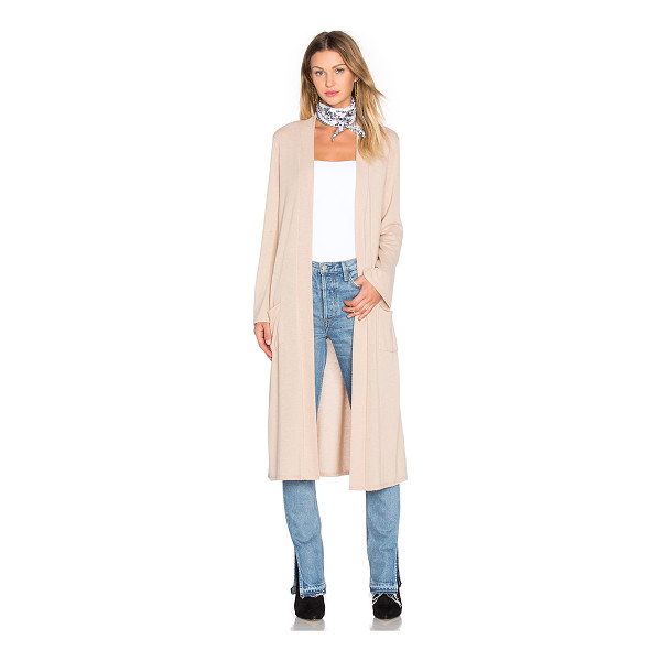 NYTT Longline cardigan - Poly blend. Open front. Front patch pockets. NYTR-WK3....