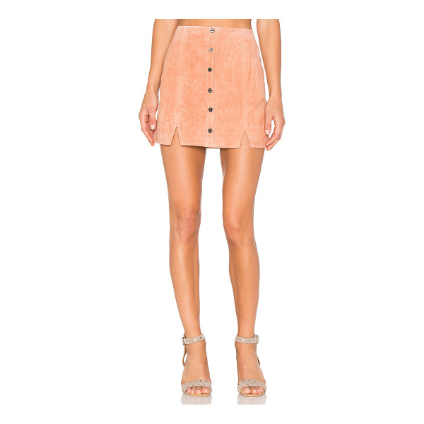 OBEY Soho Suede Skirt - Self: 100% leatherLining: 100% poly. Professional leather...