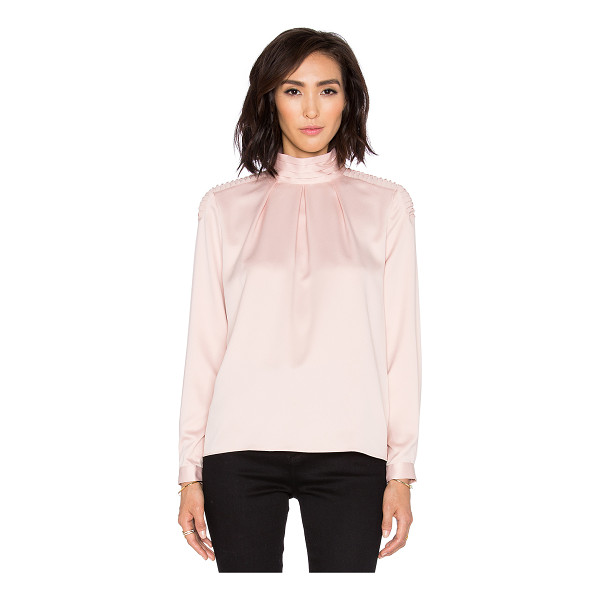OLCAY GULSEN Bisha top - 100% poly. Back keyhole with button closure. Pintuck...
