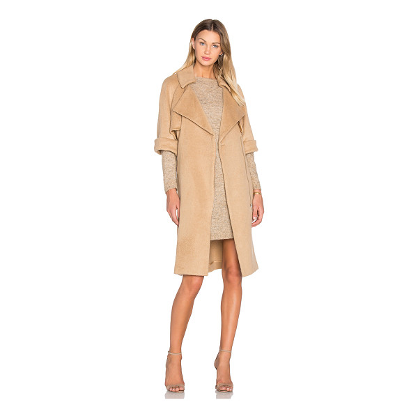 OLCAY GULSEN Short Sleeve Flap Coat - Self: 36% acrylic 33% wool 26% poly 5% other fibersLining:...