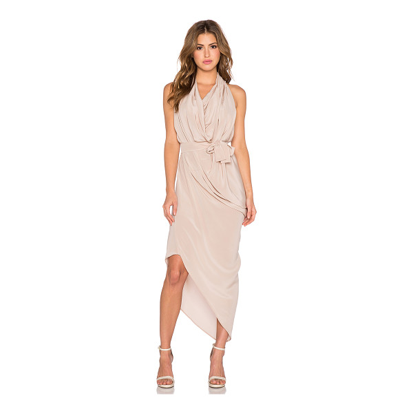ONE FELL SWOOP Erin dress - 100% silk. Dry clean only. Unlined. Draped detail. Waist...