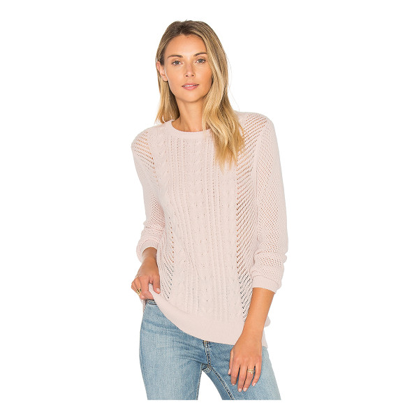 PAIGE Nori Sweater - 55% nylon 30% wool 15% acrylic. Hand wash cold. Cable knit...