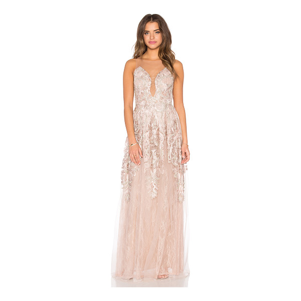 PATRICIA BONALDI Embellished Tulle Gown - Nylon blend. Dry clean only. Fully lined. Lightly padded...