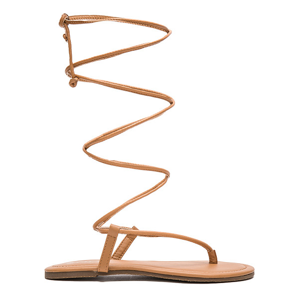 PILYQ Gladiator Sandal - Man made upper and sole. Lace-up front with wrap tie