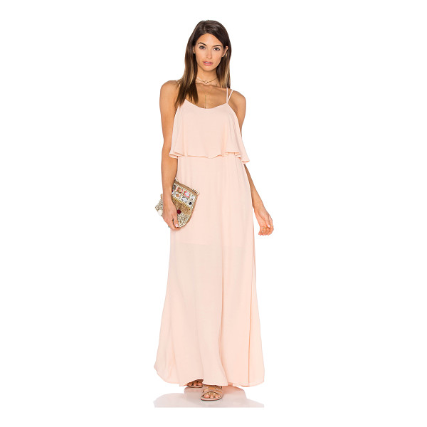 PINK STITCH Alexa Maxi Dress - 100% poly. Hand wash cold. Partially lined. Bodice overlay....