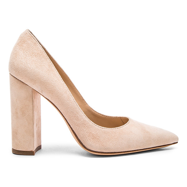 """POUR LA VICTOIRE Celina Heel - Suede upper with leather sole. Heel measures approx 4"""""""" H...."""
