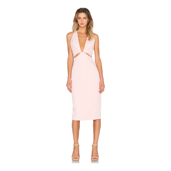 PREMONITION Indie Deep V Dress - Cotton blend. Fully lined. Front cut-out detail. Back...