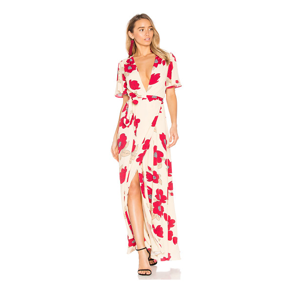PRIVACY PLEASE Kimono Dress - Be a little daring. Bold blooms contrasted against subtle...