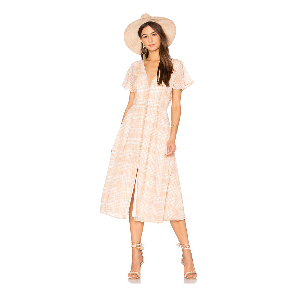 PRIVACY PLEASE Reed Dress - Dressing up for a prim picnic. Soft neutral plaid defines...