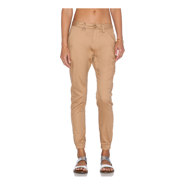 """PUBLISH Hanna jogger - 97% cotton 3% spandex. 16"""""""" in the knee narrows to 9"""""""" at..."""