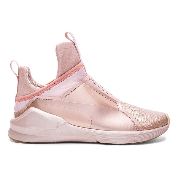 PUMA Fierce Metallic Sneaker - Textile upper with rubber sole. Elasticized pull on...