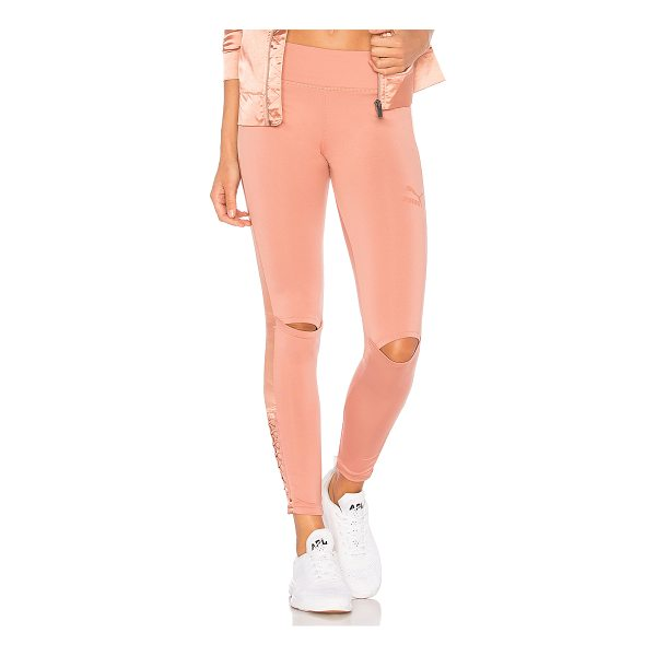 PUMA Lux Legging - Self: 91% poly 9% elastaneContrast: 100% poly. Elasticized...