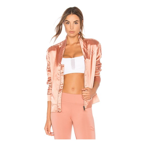 PUMA Satin T7 Lux Jacket - 100% poly. Front zipper closure. Side seam pockets. Laced...