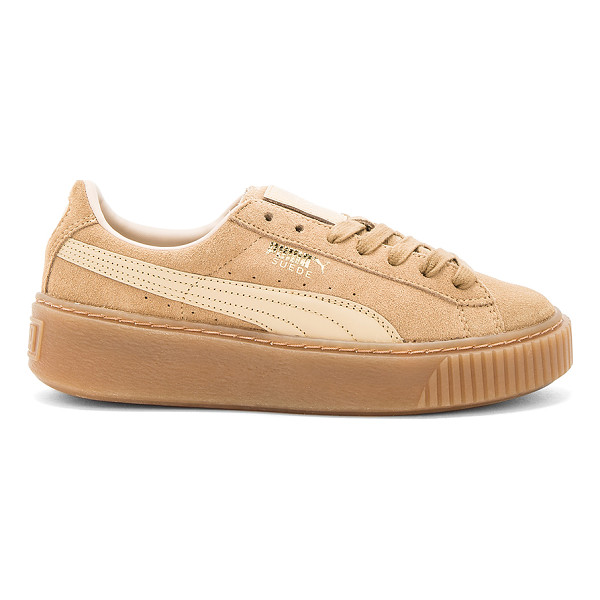 PUMA Suede Core Platform - Suede upper with rubber sole. Lace-up front. Leather...