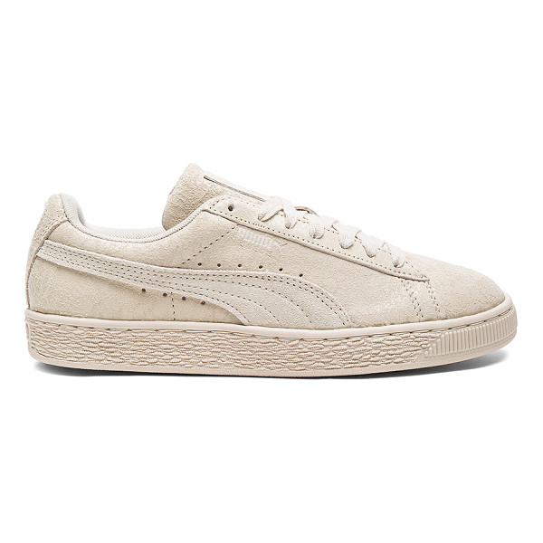 PUMA Suede Remaster Sneaker - Coated and textured suede upper with rubber sole. Lace-up...