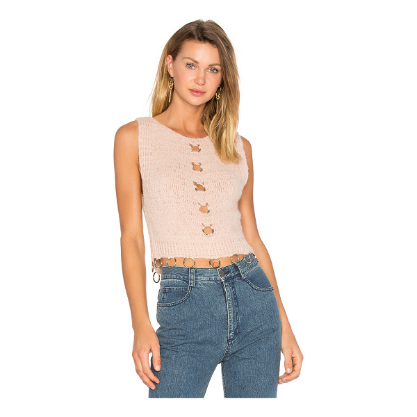 RACHEL COMEY Orbit Top - Blush baby knit perfection. Unconventional cut-outs in the...