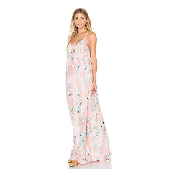 RACHEL PALLY Crepe Mirage Maxi Dress - 100% rayon. Dry clean recommended. Unlined. Wired neckline....