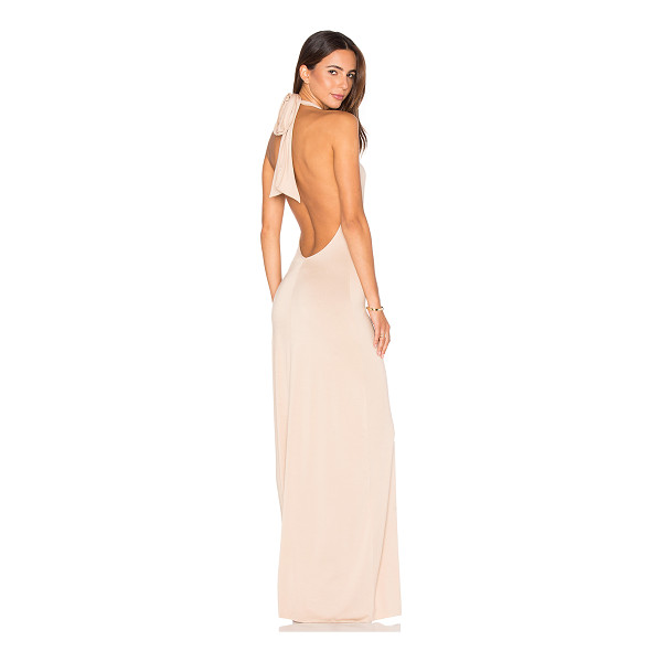 RACHEL PALLY Fausto Maxi - 92% modal 8% spandex. Dry clean only. Unlined. Halter strap...