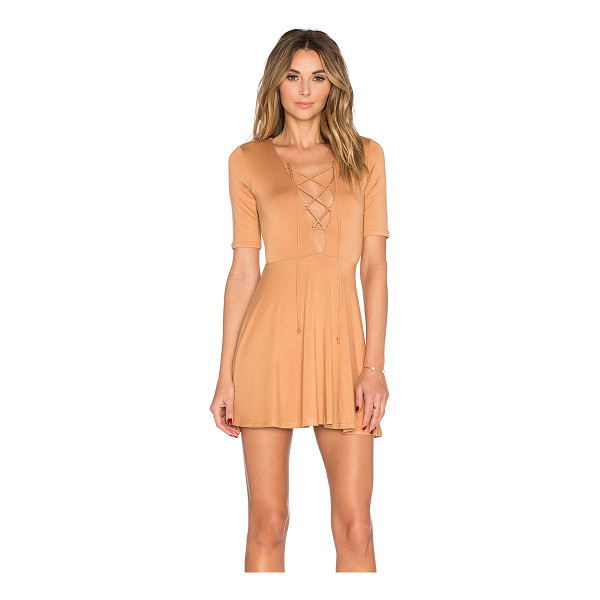 RACHEL PALLY Kidada mini dress - 92% modal 8% spandex. Dry clean only. Unlined. Lace-up...