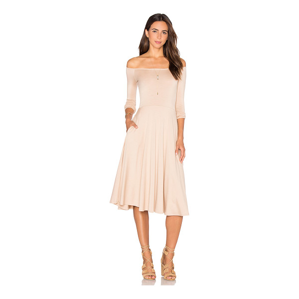 RACHEL PALLY Long Sleeve Lovely Dress - 92% modal 8% spandex. Dry clean recommended. Unlined. Side...