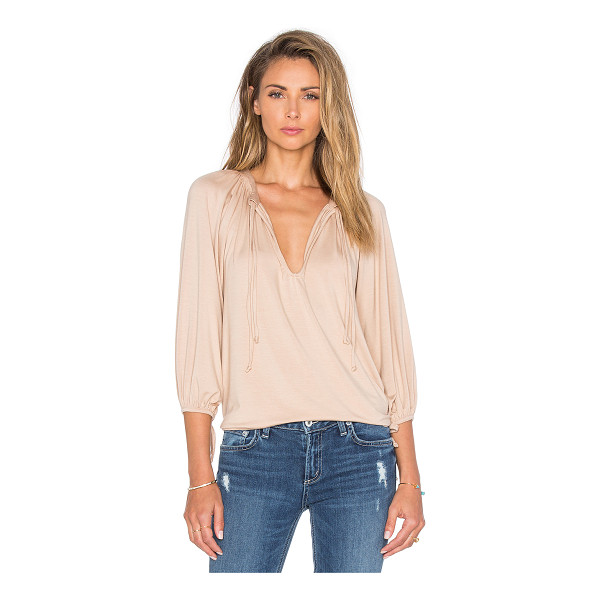 RACHEL PALLY Mei Top - 92% modal 8% spandex. Dry clean recommended. Front tie...