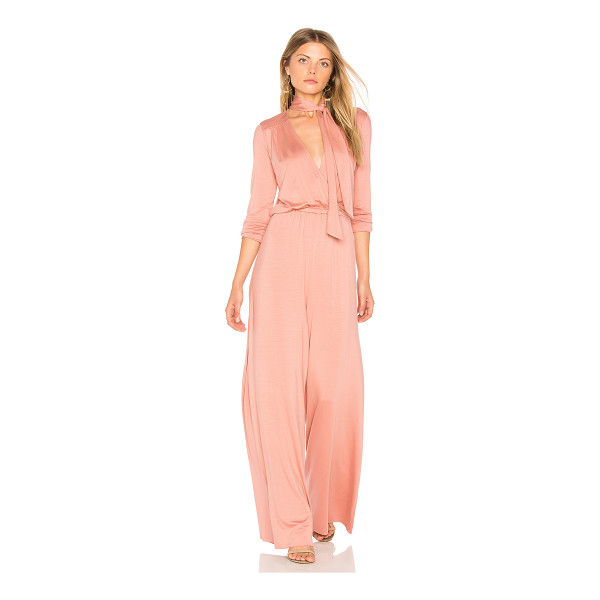 RACHEL PALLY Miro Jumpsuit - Cotton blend. Dry clean only. Jersey knit fabric. Neckline...