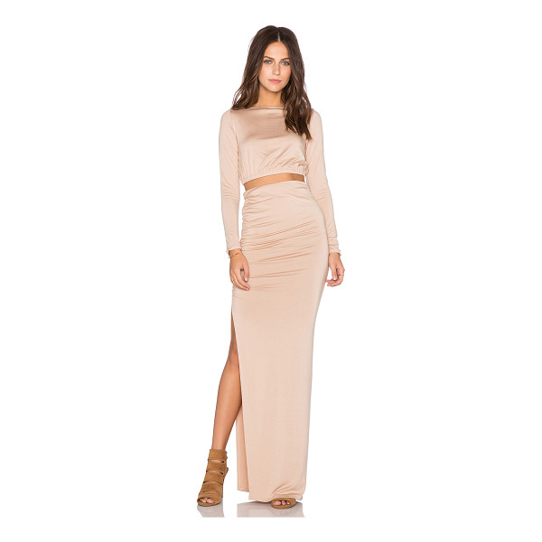 RACHEL PALLY X revolve ruched crop top & skirt - 92% modal 8% spandex. Dry clean recommended. Skirt measures...
