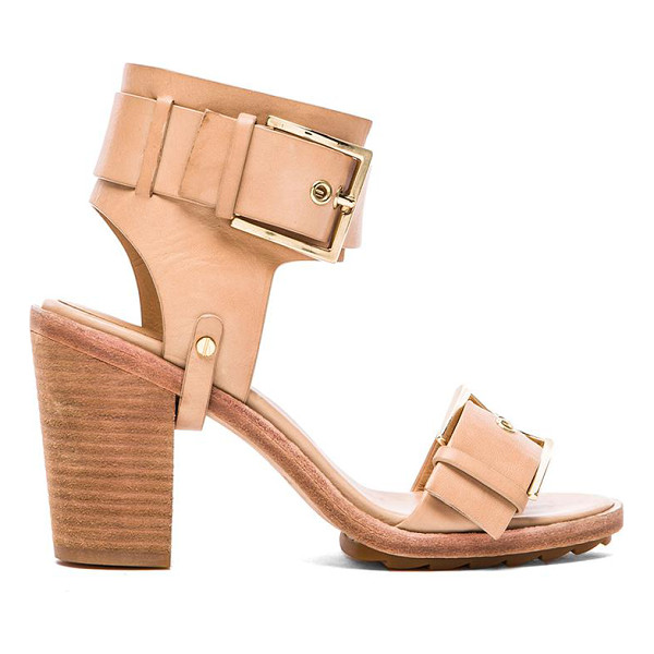 "RACHEL ZOE Reeve sandal - Leather upper with rubber sole. Heel measures approx 3.5""""..."