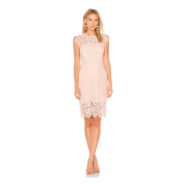 RACHEL ZOE Suzette Dress - Poly blend. Hand wash cold. Fully lined. Allover lace...