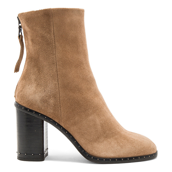 RAG & BONE Blyth Boot - Suede upper with leather sole. Back zip closure. Raised...