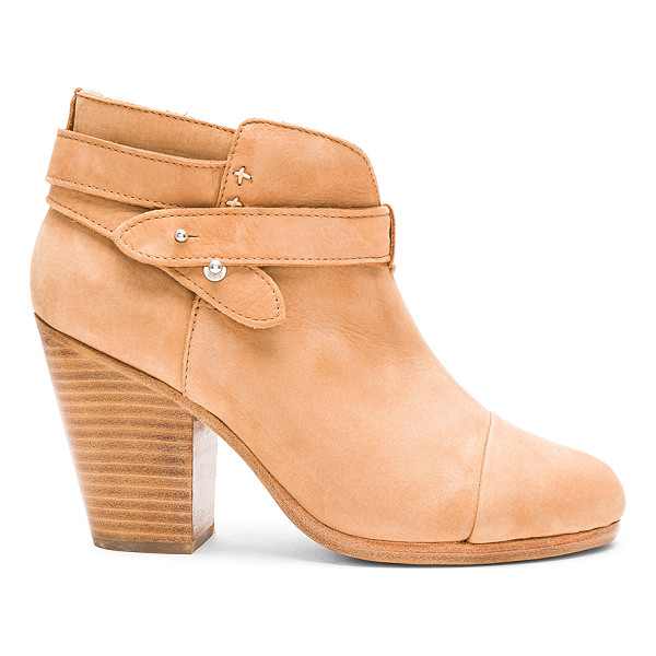 RAG & BONE Harrow Bootie - Suede upper with leather sole. Ankle straps with notch...