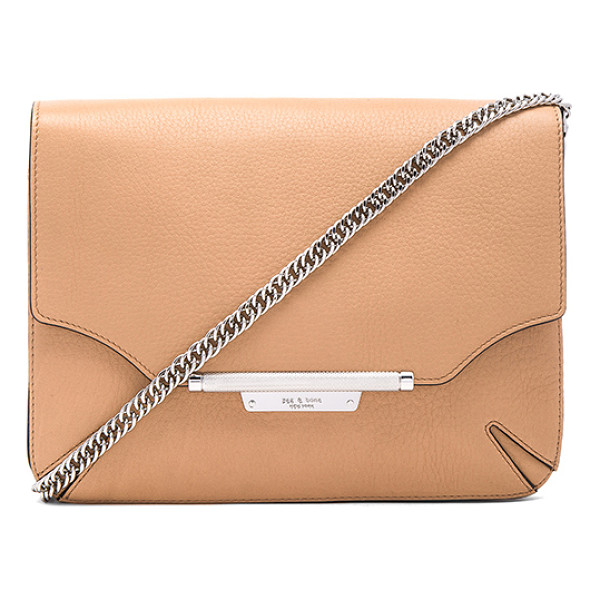 RAG & BONE Moto clutch - Leather exterior with nylon fabric lining. Flap top with...