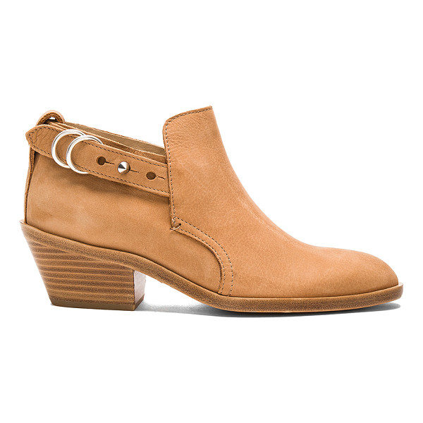 RAG & BONE Sullivan Bootie - Suede upper with leather sole. Ankle strap with spike...