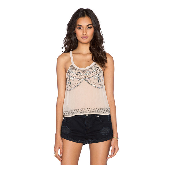 RAGA After hours tank - Silk blend. Hand wash cold. Bead and sequin detail. Semi...