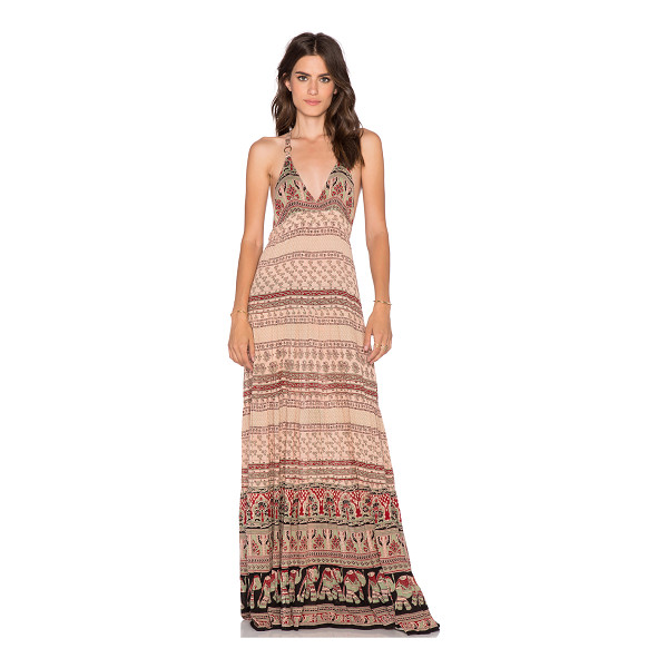 RAGA Mojave razor back maxi - Rayon blend. Unlined. Side hidden zipper closure....
