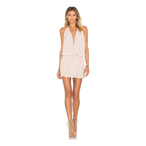 RAMY BROOK Alexandra Dress - 100% poly. Dry clean only. Unlined. Lace-up front with tie...