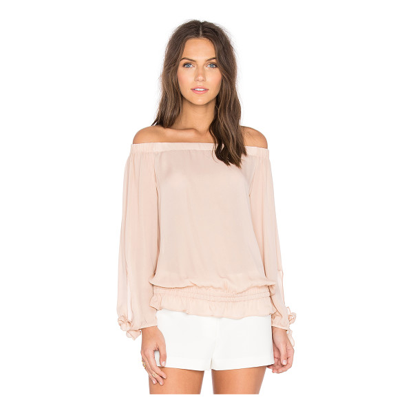 RAMY BROOK Jenny Off the Shoulder Top - Silk blend. Dry clean only. Elastic neckline and hem....