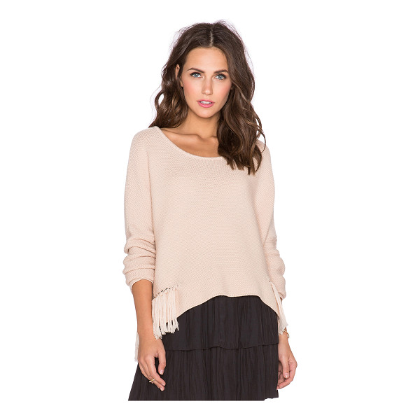 RAMY BROOK Kelly embellished sweater - Cotton blend. Fringe accent with chain link detail....