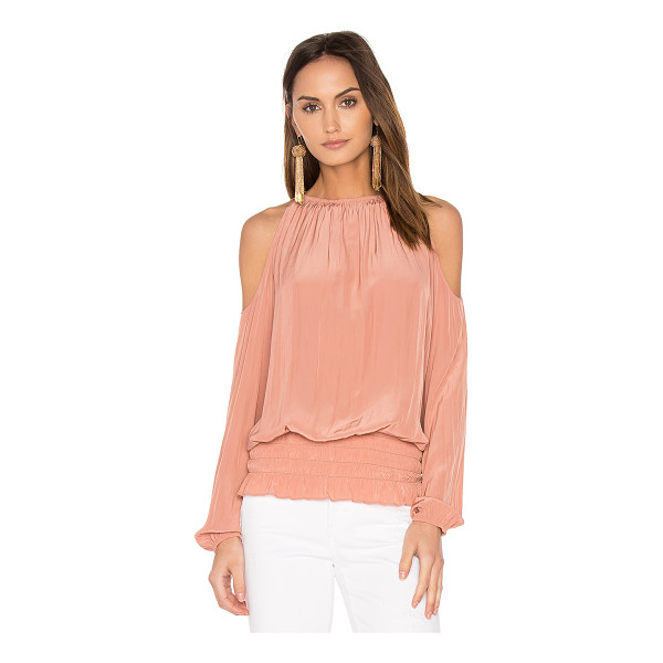RAMY BROOK Lauren Top - 100% poly. Dry clean only. Elasticized neckline. Shoulder...