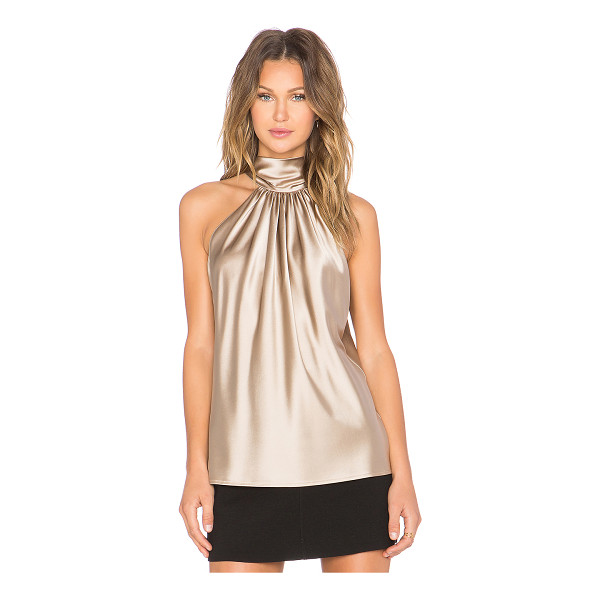RAMY BROOK Paige tie neck tank - Silk blend. Dry clean only. Neckline tie accent. RAMR-WS3....
