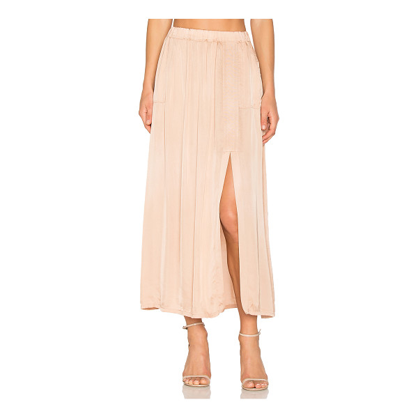 RAQUEL ALLEGRA Ribbon Midi Skirt - 54% viscose 46% cotton. Dry clean only. Unlined....