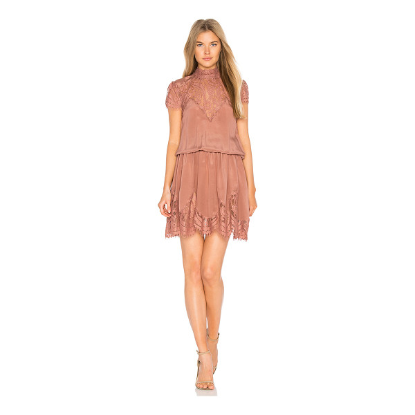 RAVN Nela Dress - Poly blend. Hand wash cold. Unlined. Sheer lace yoke and...